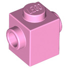 LEGO Bright Pink Brick 1 x 1 with Studs on Two Opposite Sides (47905)