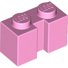 LEGO Bright Pink Brick 1 x 2 with Groove (4216)