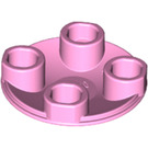 LEGO Bright Pink Plate 2 x 2 Round with Rounded Bottom (2654)