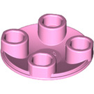 LEGO Bright Pink Round Plate 2 x 2 with Rounded Bottom (2654)