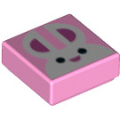 LEGO Bright Pink Tile 1 x 1 with Decoration with Groove (48269)