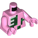 LEGO Zombie Pigman Torso with Bright Pink Arms and Bright Pink Hands (973 / 76382)
