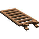 LEGO Brown Bar 7 x 3 with Double Clips (6020)