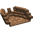 LEGO Brown Boat Stern 16 x 14 x 5 & 1/3 Hull Inside (2559)