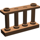 LEGO Brown Fence Spindled 1 x 4 x 2 with 2 Top Studs (30055)
