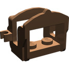 LEGO Brown Horse Saddle with Two Clips (Flat Fronted Clips) (4491)