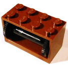 LEGO Brown Hose Reel 2 x 4 x 2 Holder with Spool