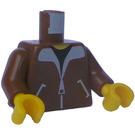 LEGO Brown Minifig Torso Bomber Jacket