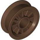LEGO Brown Wheel Centre Spoked Small (30155)