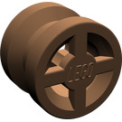 LEGO Brown Wheel Rim Ø8 x 6.4 without Side Notch (4624)