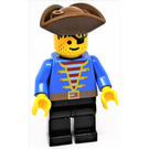 LEGO Bucaneer Pirate with Blue Jacket and Eyepatch Minifigure