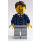 LEGO Businessman Pinstriped Jacket and Orange Tie Minifigure
