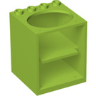 LEGO Cabinet 4 x 4 x 4 with Sink Hole without Door Holder Holes (6197)