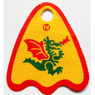 LEGO Cape with Green Dragon with Red Wings Decoration
