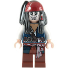 LEGO Captain Jack Sparrow with Skeleton Face Minifigure