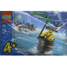 LEGO Captain Kragg in Barrel Set 7290