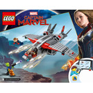 LEGO Captain Marvel and The Skrull Attack Set 76127 Instructions
