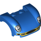 LEGO Car Bonnet 3 x 4 x 1 1/3 with 2 Studs, Decorated with Headlights and Grille (18514)