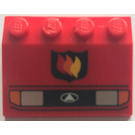 LEGO Car Mudguard 3 x 4 with Headlights and Fire Logo (2513)