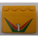 LEGO Car Mudguard 3 x 4 with Sticker from Set 6550 (2513)