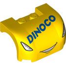 LEGO Car Mudguard 3 x 4 x 1.667 Curved with Decoration (34358 / 38224)