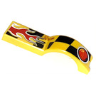 LEGO Car Mudguard 4.5 x 1 x 1 with Flame and Taillight (50947)