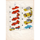 LEGO Car with trailer and racing car Set 650-1 Instructions