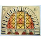LEGO Cardboard Backdrop Bank / Arched Window (43651)