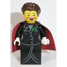 LEGO Carol singer, Female - Gold Buttons and Holly Lapel Pin Minifigure