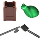 LEGO Castle Advent Calendar Set 7979-1 Subset Day 13 - Tools Storage with Frog