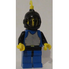 LEGO Castle - Blue Torso with Breastplate, Black Helmet, Yellow Feather Minifigure