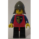 LEGO Castle - Crusader Axe, Red Torso, Dark Gray Helmet Minifigure