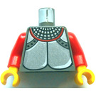 LEGO Castle Torso with Silver Breastplate and Chainmail with Red Arms and Yellow Hands (973)