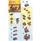 LEGO Catapault Cart Set 2540 Instructions