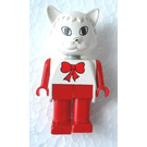 LEGO Catherine Cat with Red Bow Fabuland Figure