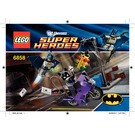 LEGO Catwoman Catcycle City Chase Set 6858 Instructions