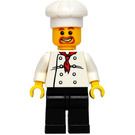 LEGO Chef with Red Scarf and 8 Buttons Vest, Brown Beard and Black Legs Minifigure