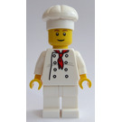 LEGO Chef with Red Scarf and 8 Buttons Vest, Brown Eyebrows and White Legs Minifigure