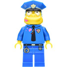 LEGO Chief Wiggum with Doughnut Frosting on Face and Shirt Minifigure