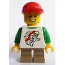 LEGO Child Minifigure with Spaceman Pattern, Dark Tan Short Legs and Red Cap