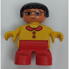 LEGO Child with Yellow Sweater and Glasses