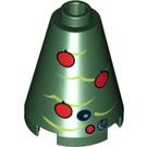 LEGO Christmas Astromech Tree Cone 2 x 2 x 2 (Open Stud) (3942 / 17232)