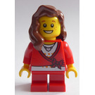 LEGO Christmas Tree Girl with Freckles Minifigure