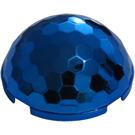 LEGO Chrome Blue Hemisphere 4 x 4 Multifaceted (71967)