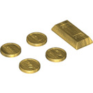 LEGO Chrome Gold Coin and Metal Bar Pack (97053)