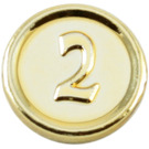 LEGO Chrome Gold Coin with 2