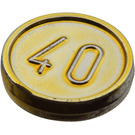 LEGO Chrome Gold Coin with 40 (70501)