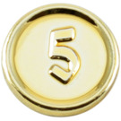 LEGO Chrome Gold Coin with 5