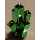 LEGO Chrome Green Rock 1 x 1 with 5 Points