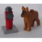 LEGO City Advent Calendar Set 4428-1 Subset Day 18 - Dog with Fire Hydrant